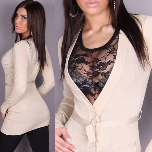 Женский свитер спицами с косами. вязание теплых кофт.
